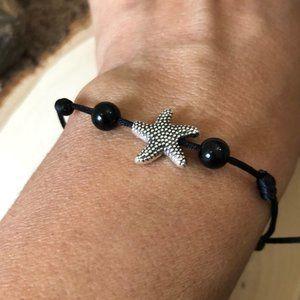 Starfish shape Tibetan Style Black Bracelet